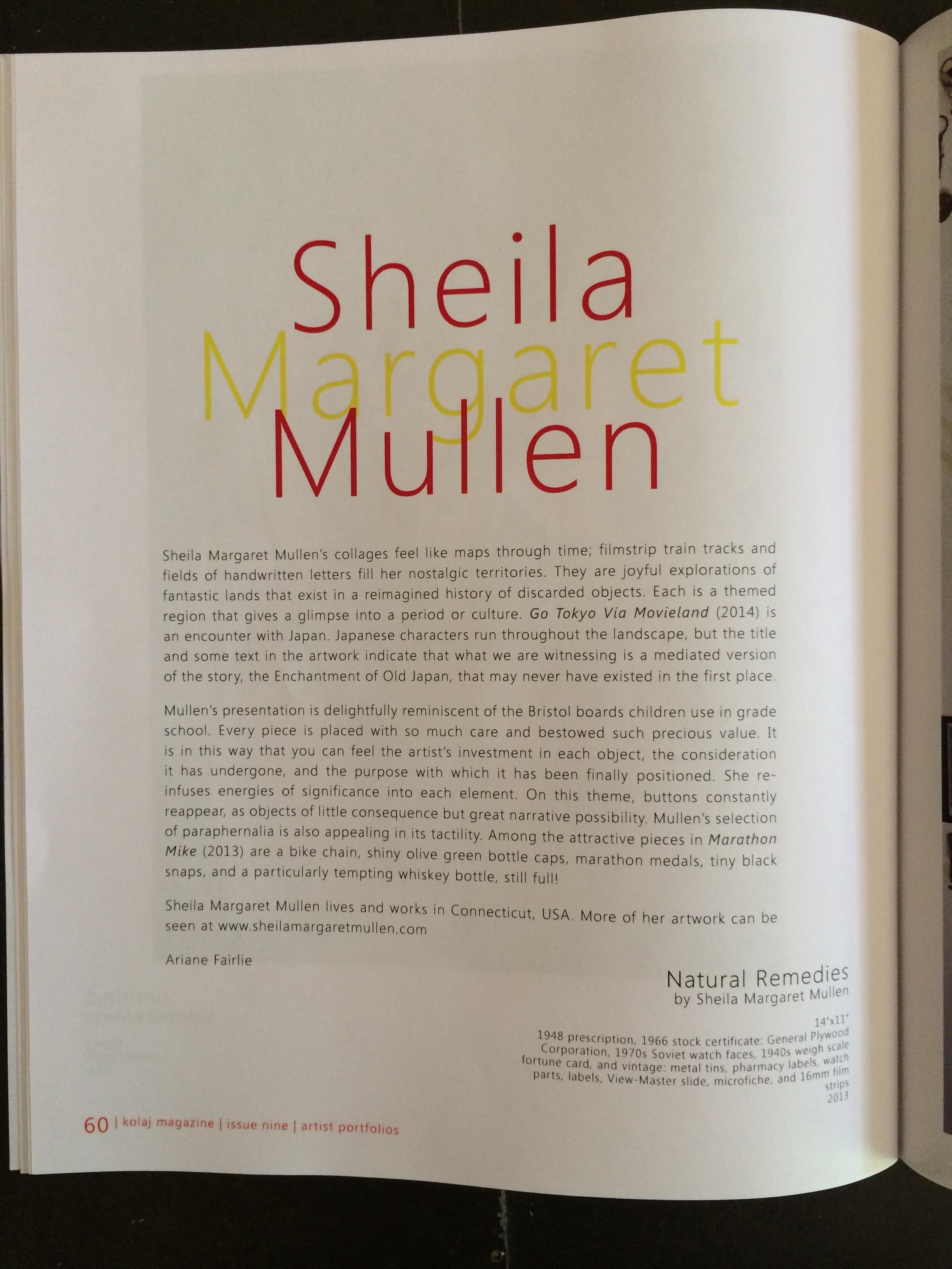 Sheila Margaret Mullen Assemblage Collage